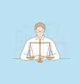 law justice notary work judgement concept vector image