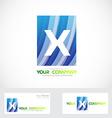 Letter X logo blue vector image vector image