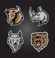 mascot logo set for esports team vector image vector image