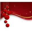 Merry Christmas card with red bauble vector image vector image