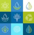 organic logos vector image vector image