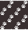 Paw zoo pattern Brown for zoo design vector image vector image