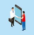 people digital health vector image