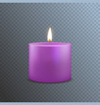 realistic detailed 3d candle on a transparent vector image vector image