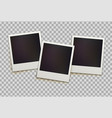 retro instant photo frames vector image