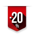Sale twenty percent off banner red ribon vector image vector image