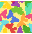 Seamless bright background of butterflies vector image