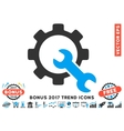 Service Tools Flat Icon With 2017 Bonus Trend vector image vector image