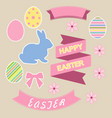 set for easter vector image