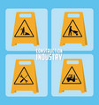 set of construction roadsign icons vector image vector image