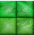 set of green texture background vector image vector image