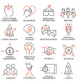 Set of icons related to business management - 29 vector image vector image