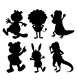 Silhouettes of wild animals vector image vector image