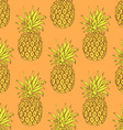Sketch tasty pineapple in vintage style vector image vector image