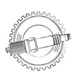 spark plug spare part industry automotive vector image vector image