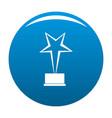 star award icon blue vector image