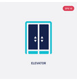 Two color elevator icon from hotel concept