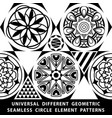 universal different seamless patterns tiling vector image