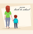 welcome back to school poster or flyer vector image vector image