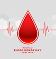world blood donor day poster design vector image vector image