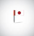 Japan flag pin vector image