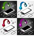 music player headphones seamless vector image