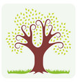 tree in spring vector image