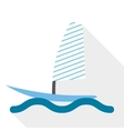 boat surf vector image