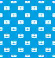 3d printer printing cup pattern seamless blue vector image vector image