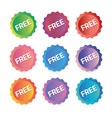 a set of labels banners free vector image vector image