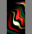 abstract wave lines fluid rainbow style color vector image vector image