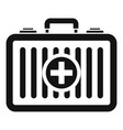 beach first aid kit icon simple style