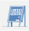 black friday - chalk board with banner vector image vector image