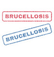 brucellosis textile stamps vector image