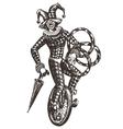 circus logo design template clown vector image vector image