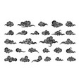 cloud in chinese style abstract black cloudy set vector image