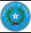 coat arms texas is a state in south vector image vector image