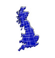 colored england map vector image