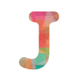 Colorful alphabet J vector image