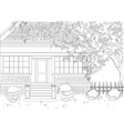 Coloring book Coloring for adult vector image vector image