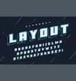 cool 3d design alphabet typeface font vector image