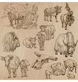 Cows and Cattle - Hand drawn pack vector image vector image