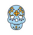 day dead color icon vector image