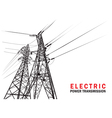 Electric power transmission silhouette