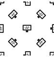 electrocardiogram monitor pattern seamless black vector image vector image