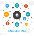 engineering trendy web concept with icons vector image