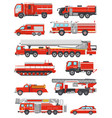 fire engine firefighting emergency vehicle vector image vector image