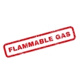 Flammable Gas Rubber Stamp vector image vector image