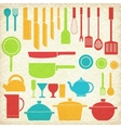 flat kitchen table for cooking in house vector image vector image