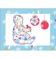 Girl with the Christmas Toy vector image